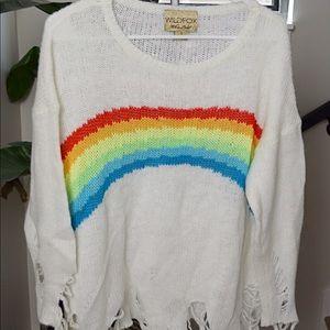 Wildfox Rainbow Jumper